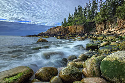 Morning In Monument Cove Art Print by Rick Berk