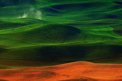 Dirt Photograph - Morning In Palouse by Phillip Chang