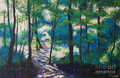 Morning Sunshine In Park Forest Art Print