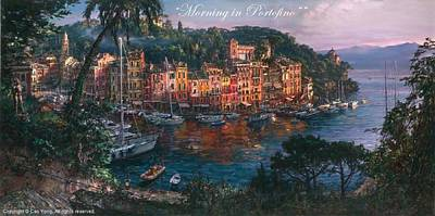 Painting - Morning In Portofino by Cao Yong