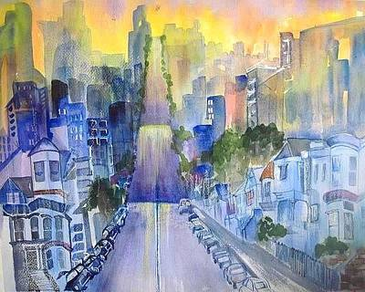 Painting - Morning In The City by Esther Woods