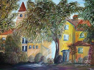 Italian Wine Painting - Morning In The Old Country by Eloise Schneider