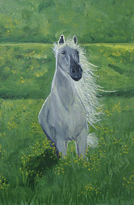 Painting - Morning In The Pasture by Donna Blackhall