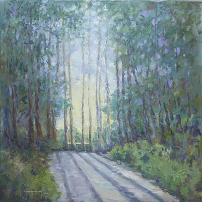 Painting - Morning In The Redwoods by Dena Cornett