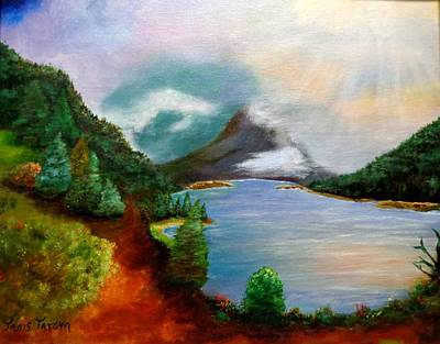 Pinion Painting - Morning In The Rockies by Janis  Tafoya