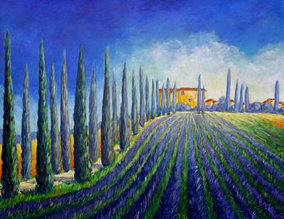 Painting - Lavender Field by Cristina Stefan