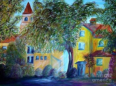 Italian Wine Painting - Morning In Tuscany by Eloise Schneider