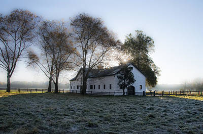 Morning In Whitemarsh - Widener Farms Art Print by Bill Cannon