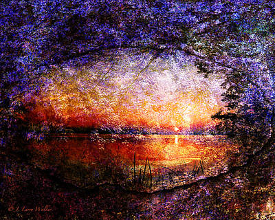 Digital Art - Morning Is Breaking by J Larry Walker