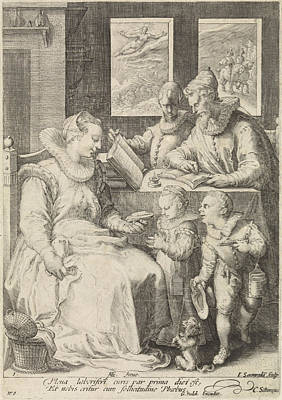 Hand Crafted Drawing - Morning, Jan Saenredam, Cornelius Schonaeus by Jan Saenredam And Cornelius Schonaeus And Gerard Valck