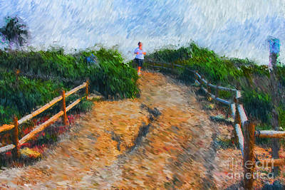 Photograph - Morning Jog by Tom Griffithe