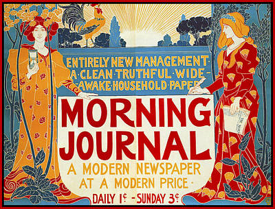 Photograph - Morning Journal 1895 by Louis John Rhead