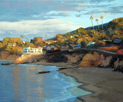Laguna Beach Painting - Morning Laguna by Armand Cabrera