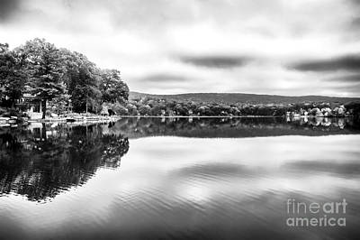 Red School House Photograph - Morning Lake View by John Rizzuto