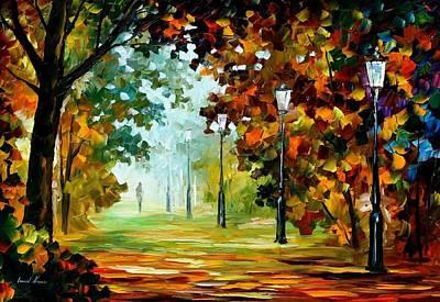 Morning Light 2 - Palette Knife Original Landscape Oil Painting On Canvas By Leonid Afremov Original