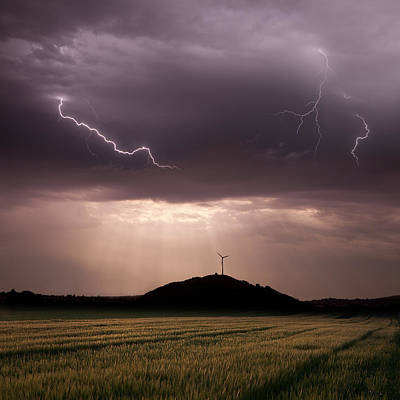 Lightning Photograph - Morning Light by Franz Schumacher