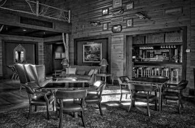 Hiawassee Photograph - Morning Light Inside Brasstown Valley Resort In Black And White by Greg Mimbs