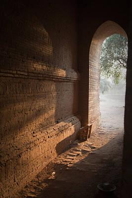 Sunlit Door Photograph - Morning Light by Maria Heyens