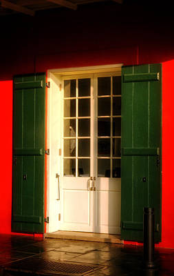 Photograph - Morning Light On A French Quarter Door by Chrystal Mimbs