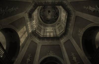 Notre Dame Photograph - Morning Light On The Golden Dome Ceiling by Dan Sproul