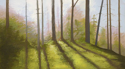 Morning Light On The Ledge Art Print by Bruce Richardson
