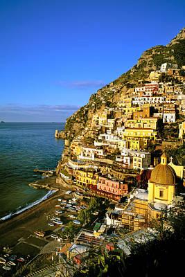 Photograph - Morning Light Positano Italy by Cliff Wassmann