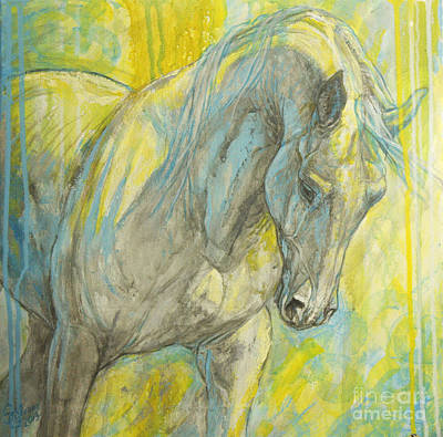 Horse Images Painting - Morning Light by Silvana Gabudean Dobre