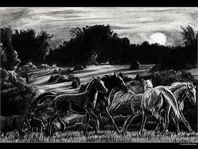 Morning Mares Art Print