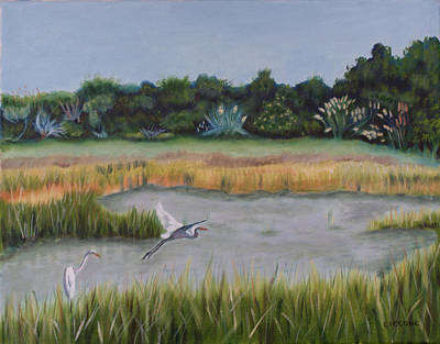Painting - Morning Marsh Scene by Jill Ciccone Pike