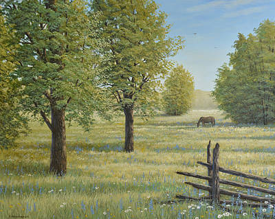 Painting - Morning Meadow by Jake Vandenbrink