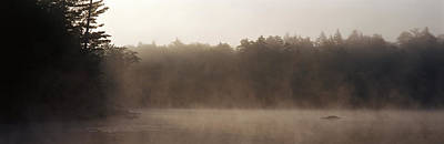 Morning Mist Adirondack State Park Old Art Print by Panoramic Images