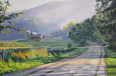 Morning Mist Art Print by Kenneth Young