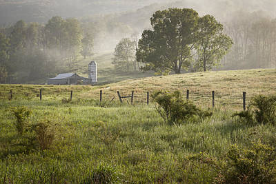 Farm Houses Photograph - Morning Mist by Mike Lang