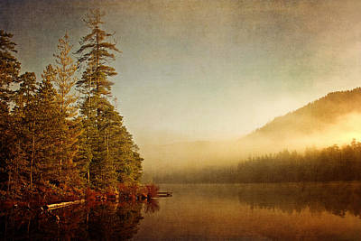 Photograph - Morning Mist On The Lake by Peggy Collins