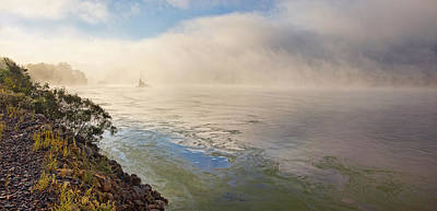 Photograph - Morning Mist On The Mississippi by Leda Robertson
