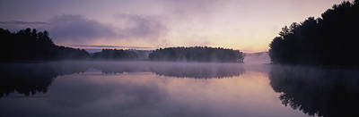 Morning Mist Over Connecticut River Art Print