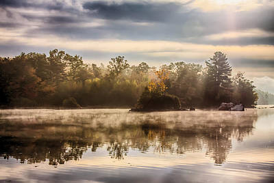 Photograph - Morning Mist Rises by Jeff Folger