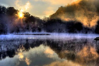 Morning Mist Art Print by Steve Parr