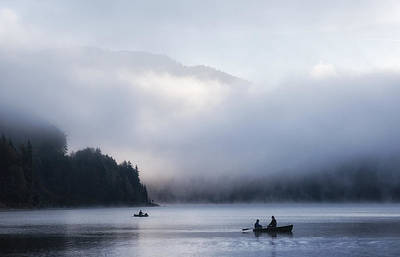 Row Boat Wall Art - Photograph - Morning Mist by Uschi Hermann