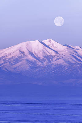 Winter Light Photograph - Morning Moon by Chad Dutson