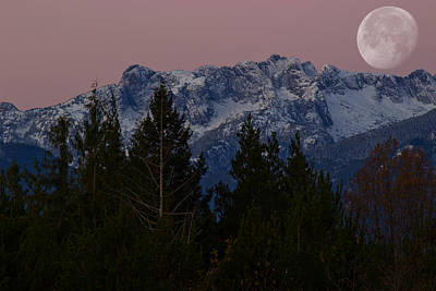 Photograph - Morning Moon by Randy Hall