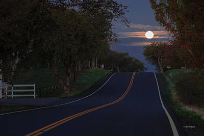 Photograph - Morning Moon by Tim Bryan