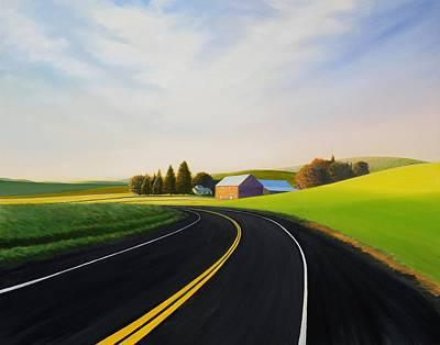 Bigsky Painting - Morning Near Rosalia by Leonard Heid