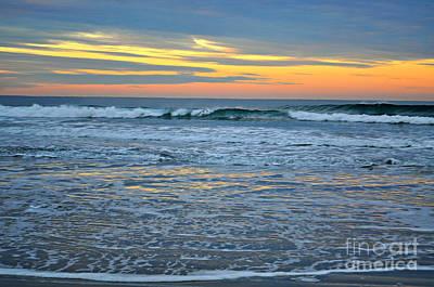 On Trend At The Pool - Morning Ocean Sunrise by Mindy Bench
