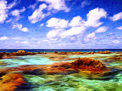 Rurutu Painting - Morning Off Moorea by Dominic Piperata