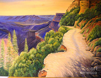 Painting - Morning On Bright Angel Trail by Connie Tom