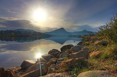 Morning On Lake Estes Art Print by Perspective Imagery