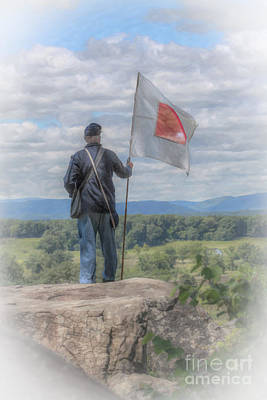Little Round Top Digital Art - Morning On Little Round Top by Randy Steele