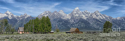 Photograph - Morning On  Mormon Row - Grand Teton by Sandra Bronstein