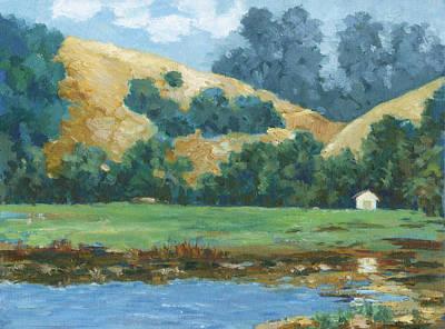 Painting - Morning On Stafford Lake by Dena Cornett